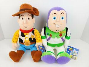 "Woody & Buzz Lightyear 16"" Plush Toy Story 4 Stuffed Toy Kohl's Cares"