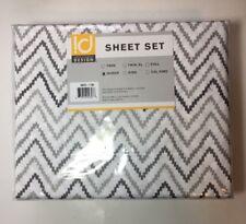 Intelligent Design Grey Chevron Sheet Set Queen