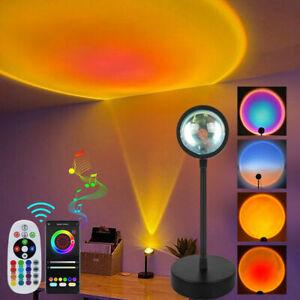 Buletooth Smart Sunset Rainbow Projector Atmosphe Lamp LED USB Night Light