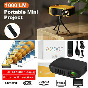 Mini Portable Pocket Projector Home Theatre HD Supports Up To 1080p Video HDMI