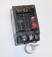 NEW GE 2 pole (double pole) 30 amp gfi gfci ground fault breaker thql2130gf1