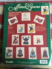 HEAVENLY ANGELS Holiday Counted Cross Stitch Ornaments Kit Bucilla Alma Lynne