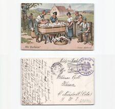 (b98142)   Ansichtskarte (Thiele) wir Barbaren immer hilfsbereit 1915 von B