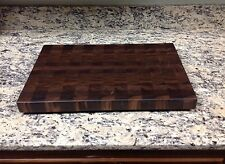 "Walnut Butcher Block Cutting Board NEW End Grain 14 X 18 X 1-3/8"" All Brown"