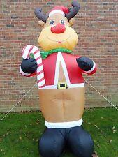 GRANDE Decorazione Di Natale Renna GONFIABILE ALTO 240cm 8ft con 4 LUCI LED