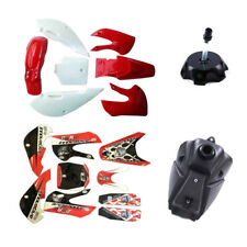 7 pcs PLASTIC FENDERS KAWASAKI KLX110 110 KX65 DRZ110 03-06 + GAS FUEL TANK CAP
