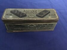 Original Vintage 30s Complete Imperial Dominoes Game Set in Metal Tin