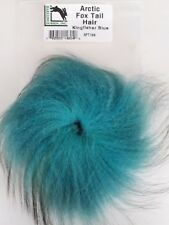 "Hareline  "" ARCTIC FOX TAIL HAIR ""  AFT199  Kingfisher Blue"