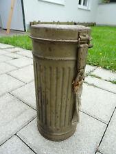 Wehrmacht WK ww2 Gasmaske Dose container Tarnfarbe camo Südfront Afrika DAK rare