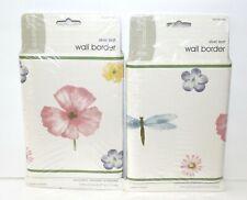 30 FEET WALLPAPER BORDER Dragonflies Bee  Quilted Patchwork Nursery Turtles
