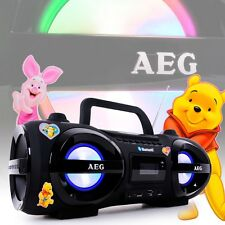 Bluetooth Kinder Zimmer Boombox CD MP3 Player Subwoofer USB Winnie Pooh Sticker