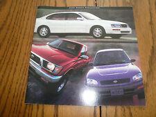 1996 Toyota Camry Corolla Quest Celica Paseo Avalon Tacoma Rav4 Sales Brochures