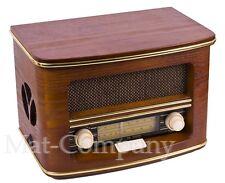 Retro Design Radio Stilvoll Holzfurnier Küchenradio Holz Gehäuse AM/FM
