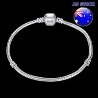 925 Sterling Silver Filled Cable Twisted Solid Bracelet With Pandora Clasp