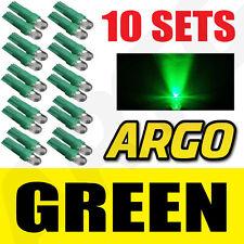 10 x Sets T5 286 Led Ultra Verde Pantalla Bombillas Xenon 12v luz Indicadores