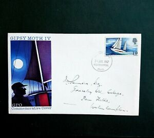 Francis Chichester Gipsy Moth IV 1967 FDC  Wolverhampton cancellation