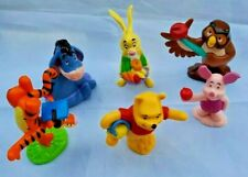 Disney Winnie The Pooh Figures Lot 6 Tigger Eeyore Piglet Rabbit Owl