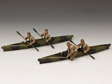 KING & COUNTRY D DAY SGS-DD006 WW2 BRITISH COMMANDO CANOE SET MIB