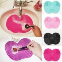 Makeup Silicone Brush Pad Cleaner Washing Scrubber Board Cleaning Tool Mat Hand