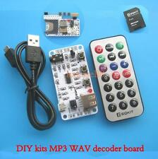 diy kits MP3 WAV decoder board audio player TF SD card + remote control