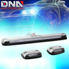 FOR 07-13 SILVERADO/SIERRA 3X CHROME CAB ROOF TOP WHITE LED MARKER LIGHTS LAMPS
