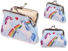 Rainbow Unicorn Design Metal Coin Purse Organiser Ladies Children  Makeup Bag
