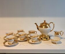 Royal Winton Rare And Beautiful Gold And Cream Coffee Pot Set