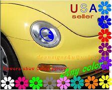 BLUE Eyeball Eyes for car headlight set USE with eyelashes or lips to make face