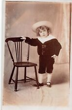 Small boy, sailor suit, 1910 chair RP, Madame Pratt Norwich Road Ipswich   RK363