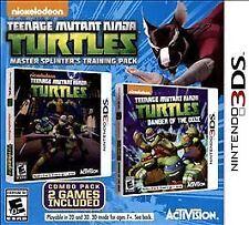 TEENAGE MUTANT NINJA TURTLES:MASTER SPLINTERS TRAINING PACK 3DS ACT NEW VIDEO GA