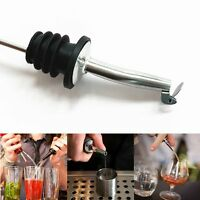 1X Liquor Spirit Pourer Free Flow Wine Bottle Pour Spout Stopper Stainless Home