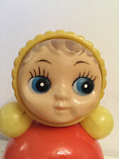 Soviet Ussr Russia Toy Doll Nevaliashka Roly Poly celluloid kid children vintage