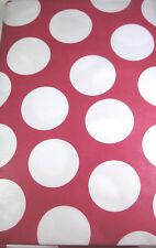 Polka Dot Vinyl Flannel Back Tablecloths Assorted Sizes Sq.,Obl.,& Rnd  Fuschia