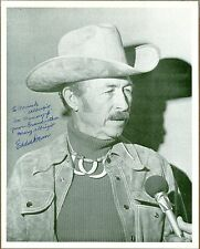 "Eddie Dean, Singer, Actor, Signed & Inscribed 8"" x 10"" Photo, COA, UACC RD 036"