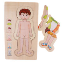 Montessori Toys for Kids - Wooden Puzzle Boy Body Structure Jigsaw Puzzle