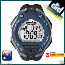Timex T5K528 Men's Ironman 30-Lap Oversize Blue Watch FREE EXPRESS POST 1-2 DAYS