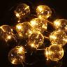 Retro Bulbs Solar Fairy String Light Lamp Outdoor Garden Decor Wire Cooper Xmas