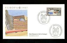 Postal History Germany Fdc #1505-1506 Set 2 Europa architecture Fleetwood 1987