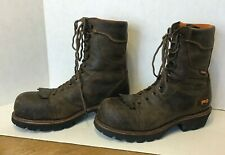 """Timberland PRO 9"""" Rip Saw Composite Safety Toe Logger Boots 89656 Size 12 Mens"""