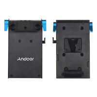 Andoer V-lock V-Mount Battery Plate Adapter for BMCC Canon for Monitor Recorder