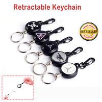 Einziehbar Schnalle Schlüsselanhänger Anti-Lost Schlüsselband Schlüsselrolle