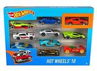 Random Mattel Hot Wheels 10 Pack Kids Model Diecast Car Random Vehicles Assorted