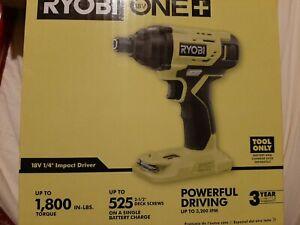 "Ryobi 18V One+ P235AB Brushless 18V 1/4"" Impact Driver (Bare Tool) open box"