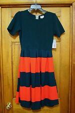 LuLaRoe Womens Amelia Dress Size M - Red and Green. Free Shipping!