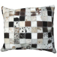 U-L509 PL509-F COWHIDE LEATHER HAIR-ON PATCHWORK CUSHION PILLOW COVER