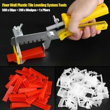 Tile Leveling System 500 Clips + 200 Wedges Wall Floor Spacers Tilling Tools