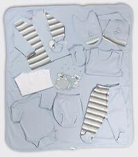 6tlg Babyset Geschenkset Neugeboren Jungen Grau Weiß Tiere 100/% Baumwolle