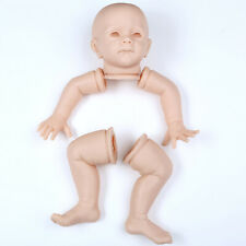 "Cute Reborn Baby Doll Kits Parts Soft Vinyl Head Limbs Mold for 24"" Toddler Doll"