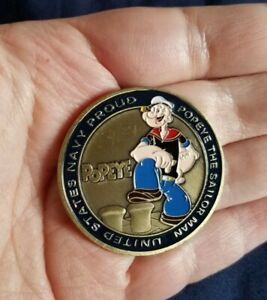NAVY PROUD POPEYE United States Navy USN CHALLENGE COIN