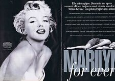 COUPURE DE PRESSE CLIPPING 2002 Marilyn Monroe  (8 pages)